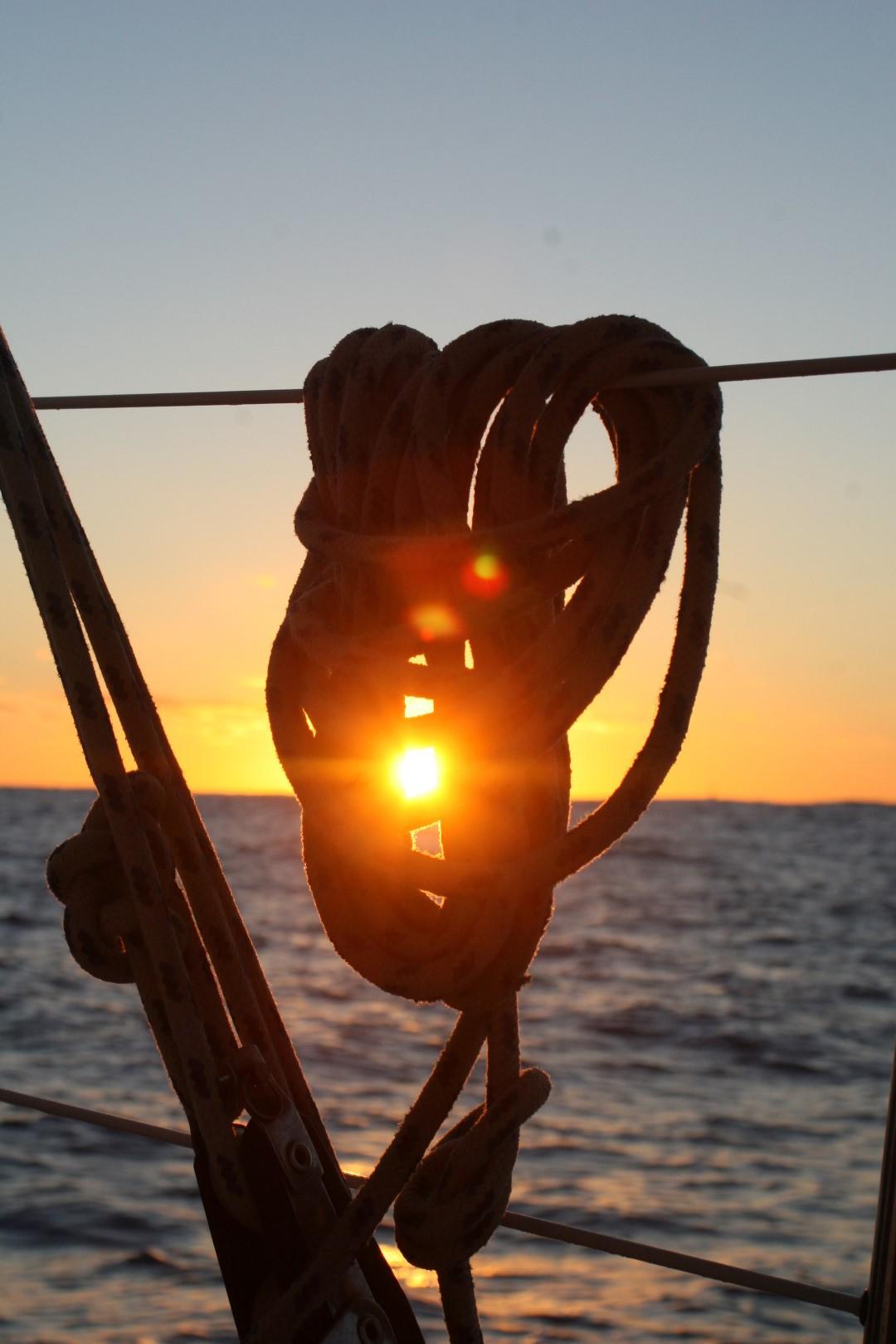 Sonnenuntergang bei ruhiger See